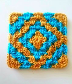 Ravelry: Boho Diamant Oma quadratisches Muster von Six Hampton Crochet - . : Ravelry: Boho Diamant Oma quadratisches Muster von Six Hampton Crochet – Crochet Squares, Easy Crochet Blanket, Crochet Motifs, Granny Square Crochet Pattern, Crochet Blanket Patterns, Crochet Granny, Crochet Stitches, Free Crochet, Knitting Patterns