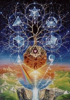 kabbalah tree of life, platonic solids, flower of life,  merkaba: