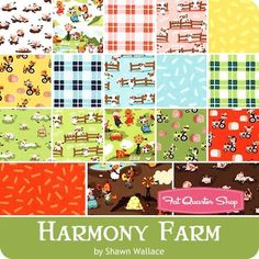 """Harmony Farm 10"""" Stacker Shawn Wallace for Riley Blake Designs - Layer Cakes & 10"""" Squares 