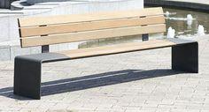Public bench / contemporary / aluminum / in wood LEGIO Gem. Westeifel Werke GmbH