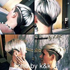 Men's hair #haircuts#fade haircuts #side part #short sides#hair style #hair color #slick back #men's hair trends# disconnected # undercut # pompadour # quaff # shaved # hard part#hair art# barber #razor# sohohair # soho by k&k # hair trend 2015# women # men# spiky# slick #hair tribal