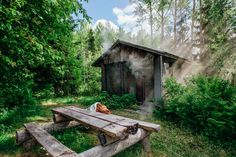 Juhannus pohjoisessa - Archie gone Lebanon - Matkablogi Saunas, Outdoor Sauna, Sauna Room, Western Red Cedar, Extra Seating, Archie, Garden Furniture, Finland, Backyard