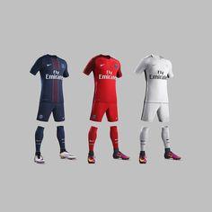 When you see @psg's full line up of kits you can really feel the tricolore vibes... . . . #footydotcom #fcfc #footy #footballboot #soccercleats #football #soccer #futbol #futbolsport #cleatstagram #totalsocceroffical #fussball #bestoffootball #rldesignz #footballgame #soccergame #nike #nikefootball #nike #paris #psg #parisstgermain #footballshirts #design #aesthetics #tricolore