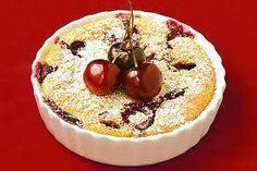 Recept - clafoutis van pruimen of kersen - met Zonnigfruit