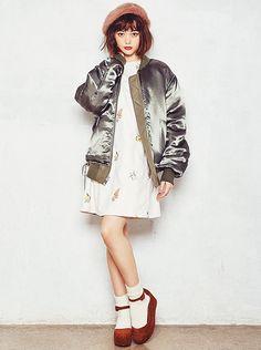 「MA-1」は冬のラストまで着倒せる! 脱マンネリの上手な着こなし法|NET ViVi|講談社『ViVi』オフィシャルサイト