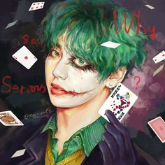 THE JOKER {Completed} - What if you knew that the person who sent you death threats is actually your best friend? Taehyung Fanart, V Taehyung, Bts Jungkook, Fotos Do V Bts, Foto Bts, Bts Photo, Bts Anime, Vkook, V Bts Wallpaper
