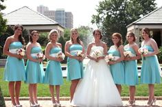 Aqua bridesmaids dress
