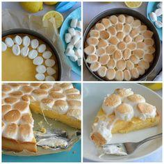 Celebration Treats 4U: Sitruunatorttu paahdetuilla vaahtiksilla Celebration, Pie, Treats, Desserts, Food, Torte, Sweet Like Candy, Tailgate Desserts, Cake