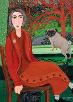 It Just Kept On Raining by Dee Nickerson  (I think I see Louie and Daphne!)