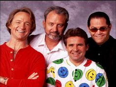 From left to right, Peter Tork, Michael Nesmith, Davy Jones, and Mickey Dolenz, of The Monkees on Feb. 4, 1997.