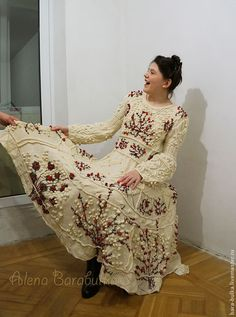 Как вязальщицы перевязывали платье Кензо - simply miu