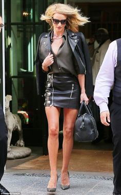 Rosie Huntington-Whiteley wearing Christian Louboutin So Kate Pumps and Givenchy Accented Lucrezia Bag