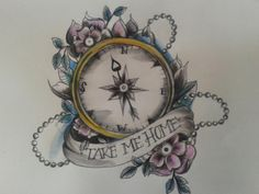 I like the compass. Maybe instead say let's run away or wanderlust
