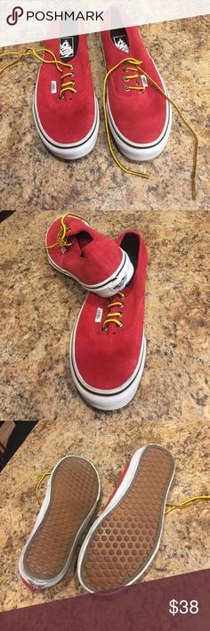 Women's red vans Brand new never used them Vans Shoes Sneakers