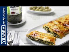 Trenza de #espinacas Ybarra a la crema. Una #receta fácil y rápida.