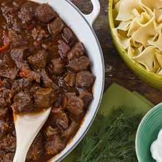 Beef Goulash Recipes from The Kitchn . I hated Goulash growing up and this explains why - it& nothing like real goulash, which is DELICIOUS Beef Goulash, Goulash Recipes, Beef Recipes, Cooking Recipes, German Recipes, Hungarian Recipes, Venison Stew, Bavarian Recipes, Czech Recipes