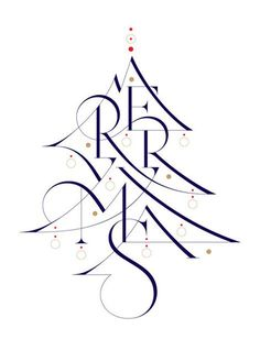 Type Worship: Inspirational Typography & Lettering — aronjancso: Wish you a merry Christmas! Christmas Images, Christmas Design, Christmas Colors, Christmas Art, Christmas Greetings, Business Christmas Cards, Pallet Christmas, Christmas Postcards, Christmas Wishes