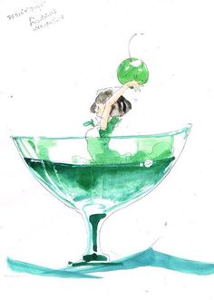 What's your favorite cocktail? Mix 'em together and you… Anime Chibi, Kawaii Anime, Manga Anime, Anime Art, Art Folder, China Art, Anime People, Cute Chibi, I Love Anime