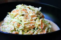My Nama's (Grandma's) #coleslaw is the BEST cole slaw. There is no other  way around that. It's creamy, but not too creamy, and it has the perfect  sweet and sour balance that a flavor combo profile can have. I hope you  enjoy this as much as my whole family does. #familyrecipe #foodie #foodielicious