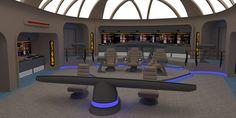 Star Trek Bridge Concept Normal alert by calamitySi on DeviantArt Spaceship Interior, Futuristic Interior, Star Trek Bridge, Adventure Rpg, Star Trek Starships, Sci Fi Series, Star Trek Ships, Futuristic Technology, Flight Deck