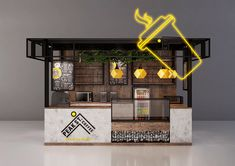 Coffee, grab and go kiosk design Cafe Shop Design, Small Cafe Design, Kiosk Design, Restaurant Interior Design, Booth Design, Store Design, Signage Design, Design Design, Graphic Design