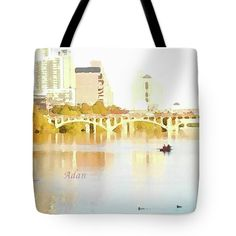 Austin Texas - Lady Bird Lake - Mid November Two - Art Detail Tote Bag * 3 Sizes Available  Digital Art by Felipe Adan Lerma   http://fineartamerica.com/products/austin-texas-lady-bird-lake-mid-november-two-art-detail-felipe-adan-lerma-tote-bag.html   #HandBags #ToteBags #ATXGifts #LadyBirdLake
