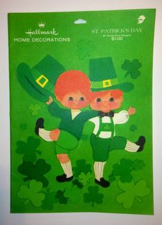 1970's Hallmark 'St. Patrick's Day Home Decorations'. 61 Press-Out Designs in Various Sizes.