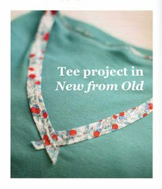 Transforming a T-Shirt Neckline with Bias Tape