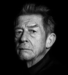 John Hurt: We are all racing towards death. No matter how many great intellectual conclusions we draw during our lives we know they're all only man-made like God. I begin to wonder where it all leads. What can you do except do what you can do as best you know how. #JohnHurt #HumanNote