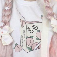 Peach Juice Japanses Aesthetic Grunge T-Shirt Aesthetic Shirts, Aesthetic Grunge, Aesthetic Fashion, Pink Aesthetic, Aesthetic Clothes, Aesthetic Japan, Aesthetic Style, Autumn Aesthetic, Aesthetic Beauty