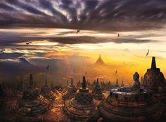 Sunrise at Borobudur Temple (Central Java)
