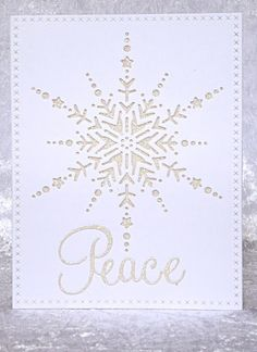 Memory Box Dazzling Snowflake die & Stampin' Up Glimmer Paper Christmas card