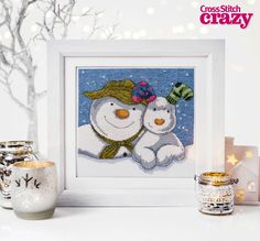 Who can resist The Snowman and The Snowdog in all their stitchy glory? Find this chart in Cross Stitch Crazy issue 208, available as a back issue when you visit www.buysubscriptions.com/backissues or call 0844 844 0385