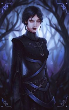 f Warlock Leather Armor mask Deciduous forest Tower story Lady Maeve Curwen by AnnaHelme DeviantArt lg Dnd Characters, Fantasy Characters, Female Characters, Super Mario Rpg, Fantasy Character Design, Character Concept, Character Art, Female Vampire, Vampire Art