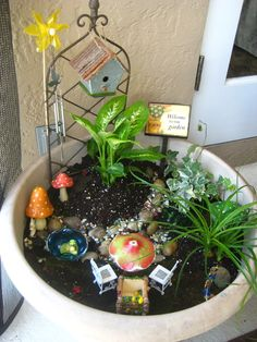My first fairy garden for my granddaughters