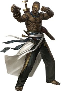 Dorn Strong-Arm the half orc monk. Mythic Preview--Path Abilities