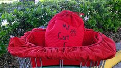 The Original Shopping Cart Cover for your Pets - Dogs - Puppies - Cats - Includes Embroidered Personalization - pinned by pin4etsy.com