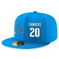 online store 4a3e4 1a86b Detroit Lions Calvin Johnson Snapback Cap NFL Player Light Blue with White  Number Hat
