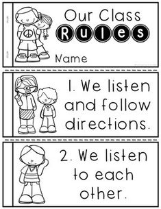 (FREE) Classroom Rules Mini-Books I introduce these classroom rules the first we. (FREE) Classroom Rules Mini-Books I introduce these classroom rules the first week of school. I have classroom poste Classroom Procedures, Classroom Rules, Classroom Behavior, Classroom Posters, Classroom Management, Behavior Management, Class Management, Kindergarten Social Studies, Kindergarten First Day