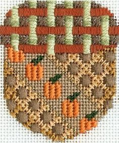 Thanksiving models at The French Knot, Fort Worth, TX Needlepoint Stitches, Needlepoint Patterns, Needlepoint Canvases, Cross Stitch Patterns, Needlework, Plastic Canvas Tissue Boxes, Plastic Canvas Patterns, Machine Embroidery Projects, Beaded Crafts