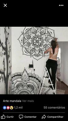 Mandala na parede