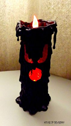 Black Candle Halloween Prop