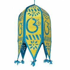 Blue Toran Ceiling Decoration Cutwork Indian Kandil Garden Décor Lamp Shade