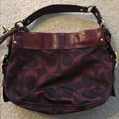 Coach purse Dark red purse in great condition Coach Bags Shoulder Bags