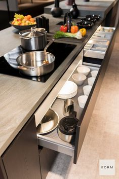 An organized and clean kitchen makes it great! Learn all about how Form Kitchens' storage solutions help you easily plan and design your modern kitchen remodel.
