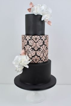373 Best Black Gold Wedding Cakes Images In 2019 Pies Amazing