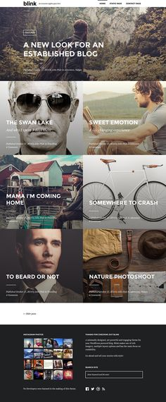 Blink - A WordPress Blogging Theme on Behance