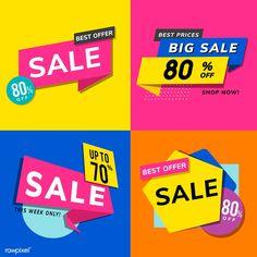 Shop sale promotion advertisements vector set | free image by rawpixel.com / Kappy Kappy Shop Sale, Shop Now, Sale Promotion, Free Illustrations, Vector Free, My Design, Free Image, Advertising, Shopping