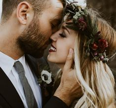 Elopement mountains Oregon wedding photographer flower crown intimate