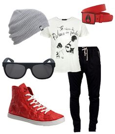 eco friendly, fall fashion, red, black, white, beanie, ray bans, Unstitched Utilities shoe, vegan, sustainable, ecofriendly